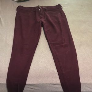 Maroon jeggings, super stretch